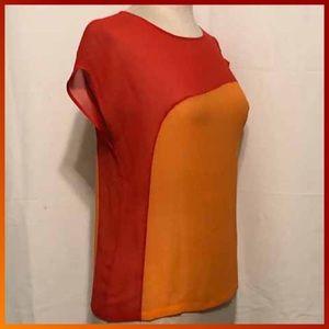 Red/Orange Asymmetrical Top